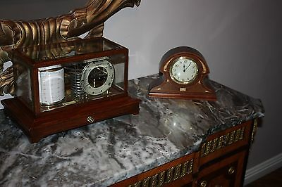 Edwardian Stunning Antique Inlaid Mother Of Pearl Clock