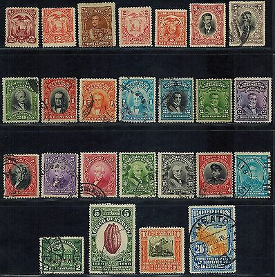 ECUADOR (81 stamps) early used (1881-1949) Postage