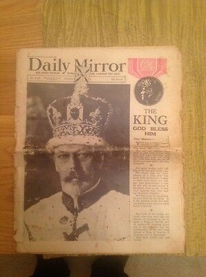 The Daily Mirror Newspaper Original 6th May 1935 King George V Jubilee
