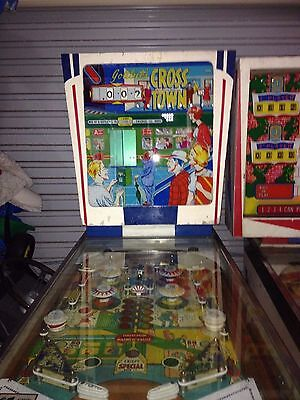Crosstown Pinball 1966 Gottlieb Rare Game with Backglass Animation