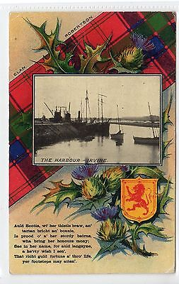THE HARBOUR, IRVINE: Ayrshire postcard (C21925)