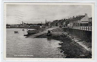 THE HARBOUR, IRVINE: Ayrshire postcard (C21927)
