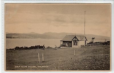 GOLF CLUB HOUSE, GOUROCK: Renfrewshire postcard (C22003)