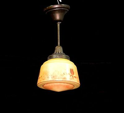 Antique Art Deco 100% Original Ceiling Fixture Lamp Lighting Chandelier 1930s