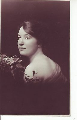 Vintage Postcard of Young Lady in Studio Photograph.1915 RP GC