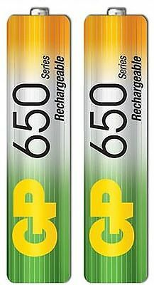 2 x GP AAA RECHARGEABLE BATTERIES BATTERY 650 1.2v FOR CORDLESS PHONE