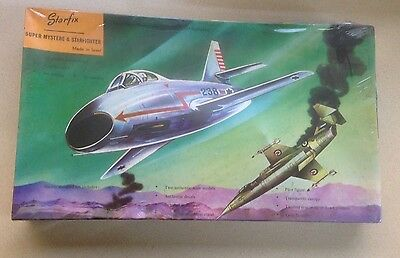 Vintage 1960-70 Starfix Military Aircrfts Kit Super Mystere & Starfighter