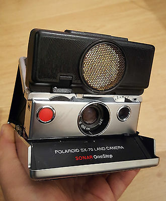 SX-70 Sonar Polaroid camera vintage TESTED & WORKING