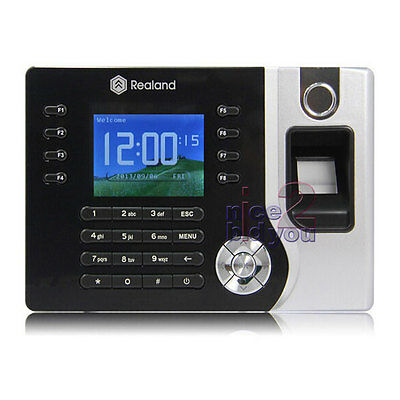 Realand Biometric Fingerprint Time Attendance Clock RFID Card Reader TCP/IP USB