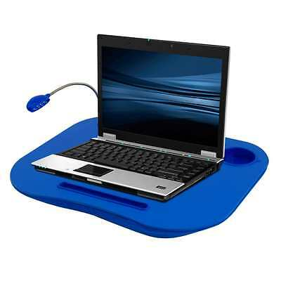Laptop Desk Notebook Portable Tray Table Computer Bed +Cup Holder and Light BLUE