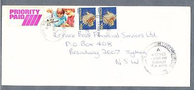 AUSTRALIA Priority Mail Commercial cover Subiaco WA to Sydney with timestamps