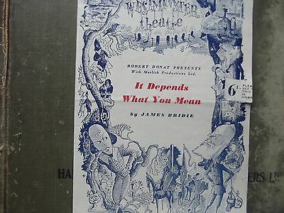AnOld Theatre Programme of .Elaborate Design