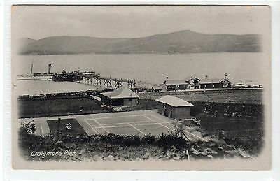 CRAIGMORE PIER AND STEAMER: Isle of Bute postcard (C21815)