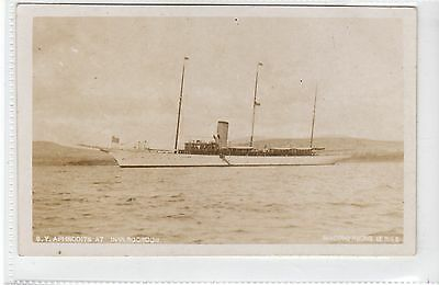 "STEAM YACHT ""APHRODITE"" AT INVERGORDON: Ross-shire postcard (C21824)"