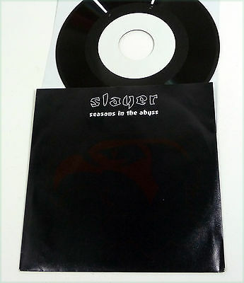 """SLAYER - NM 1991 D 1-sided 7"""" Vinyl 45 """"Seasons In The Abyss"""" Def American 90s"""