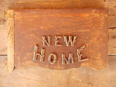 New Home salvage ANTIQUE furniture part Sewing Machine wood  Flea Mkt Decor