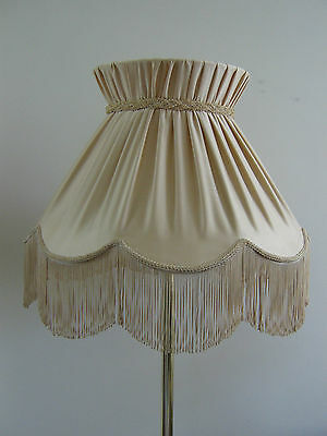 Large Vintage Style Light Beige Color Gorgeous Trimmings Standing Lamp Shade