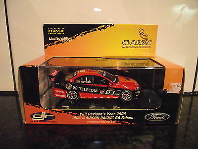 1/43 Classic Carlectables Will Davison 2006 Djr Personally Signed