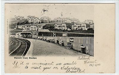WORMIT FROM STATION: Fife postcard (C21982)