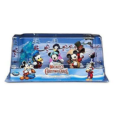New Disney Store Mickey Mouse Christmas Carol 6 Figures Figurine Set
