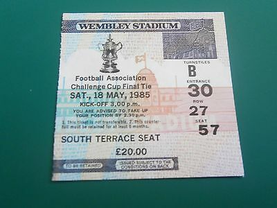 1985 FA CUP FINAL - MANCHESTER UNITED v EVERTON - TICKET STUB