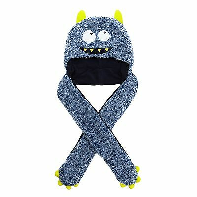 Bluezoo Boys Blue Monster Hat Scarf From Debenhams Age 7-10