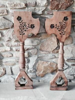 Antique Spoon Carved Corbels