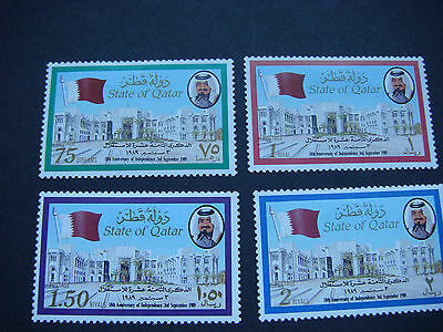 Qatar 1989 18th Anniv of Independence Set of 4 SG 836-9 CV £12.25