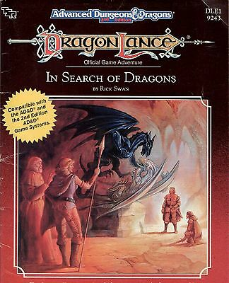 D&D Module DLE1 In Search of Dragons 1989 VERY GOOD TSR