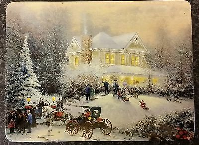 """Thomas Kinkade collectors plate - Holiday Memories """"Home for the Holidays"""""""