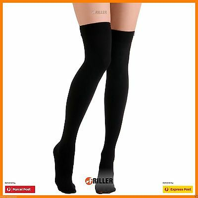 Over The Solid Girls Ladies Long Cotton Stockings Knee Women Thigh High Socks -