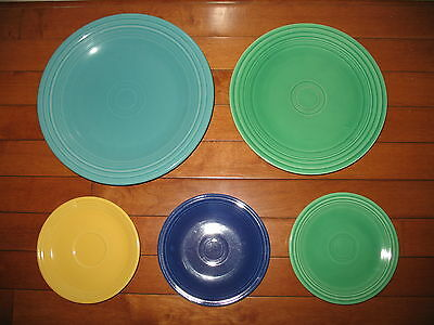 Fiesta Ware Fiestaware mixed lot of 5 plates dishes some vintage