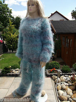 TRAUMMOHAIR C5b Fluffy Fuzzy Longhair Mohair Catsuit Overall Sweater ouvert M-XL