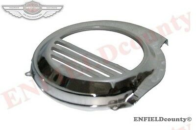 New Chrome Plated Flywheel Cowl Cover Unit Vespa Px Lml Scooter