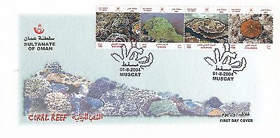 H 1827 Oman August 2004 First Day Cover; coral reef