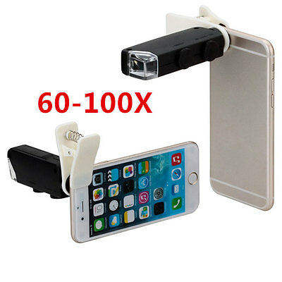 60X to 100X Zoom Microscope Magnifier Micro Mobile Phone with Universal Clip