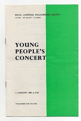 Theatre Programme - Royal Liverpool Philharmonic Orchestra - 1964 George Baker