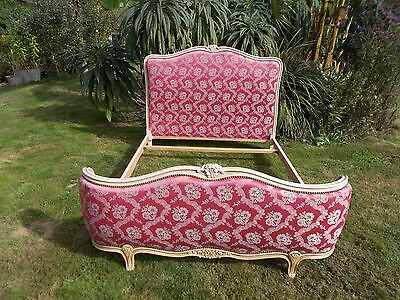 Vintage French Double Bed Demi Corbeille Louis Xv Revival Amazing Looking Vgc