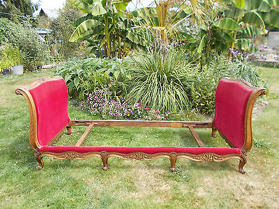 """French Single Bed Vintage Quality Sleigh Bed  """"lit Reposé"""" Fab Interior Piece"""