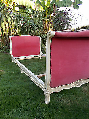 "French Single Bed Vintage Quality Sleigh Bed  ""lit Reposé"" Fab Interior Piece"