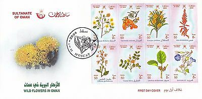 H 1197 Oman First Day Cover January 2004; Flowers part 2