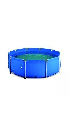 Palm Springs Above Ground Round Swimming Pool with Filter and Safety Ladder 3.7m