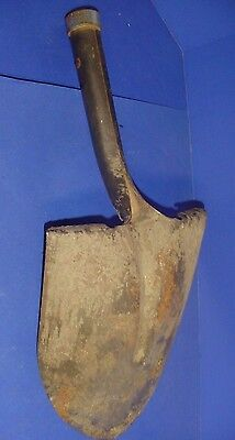 Vintage Tempered Pointed Shovel Head Marked Usa 61 - W74 Rustic Crafts Decor