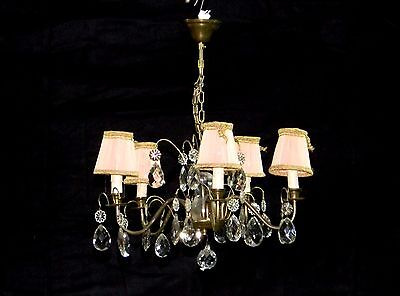 Vintage Rococo Fixture Chandelier Ceiling Lamp Lighting mid of 1900s