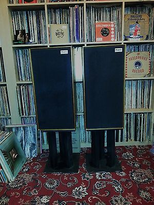 Rogers Studio 1 monitor speakers with Target stands