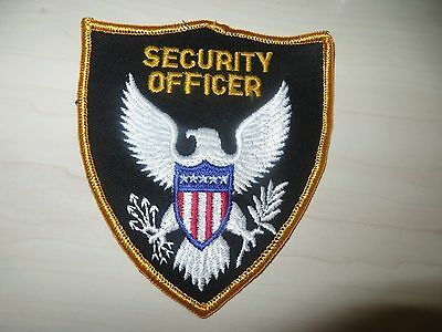Embroidered Security Officer Patch