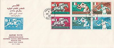 Q 381 Qatar July 1966 Stamp specific illustrated First Day Cover; Mexico Dukhan