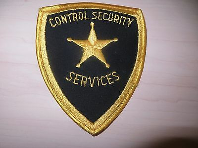 Embroidered Control Security Services Patch