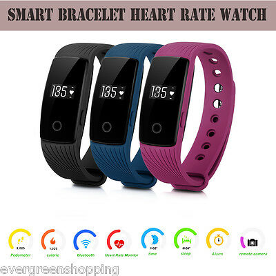 Smart Bracelet SMS Bluetooth Heart Rate Watch Pedometer Activity Fitness Track