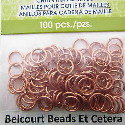 5.95mm Chain Maille Jump Rings Artistic Wire 18ga Copper Wire 140 pc.